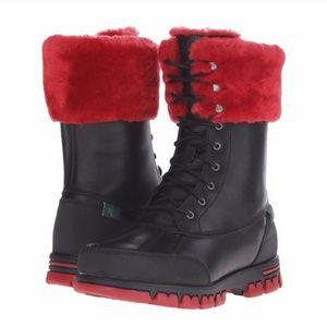 Ralph Lauren Leather/Fur Quinta Boots